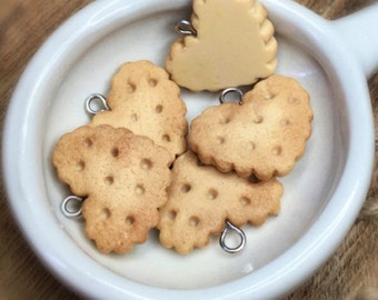 x5 miniature cookie bread Charms