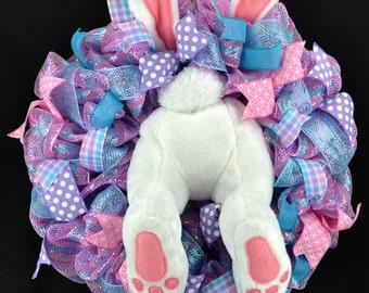 Easter Bunny wreath - Bunny butt wreath - Easter wreath - Easter decorations - Easter decor - Easter Bunny - Bunny wreath - bunny decor