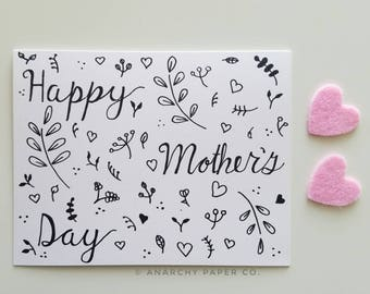 Mothers Day Card Floral for Wife, Mothers Day Card Unique for Sister, Mothers Day from daughter, Mothers Day Gift, Gift for Mom Card