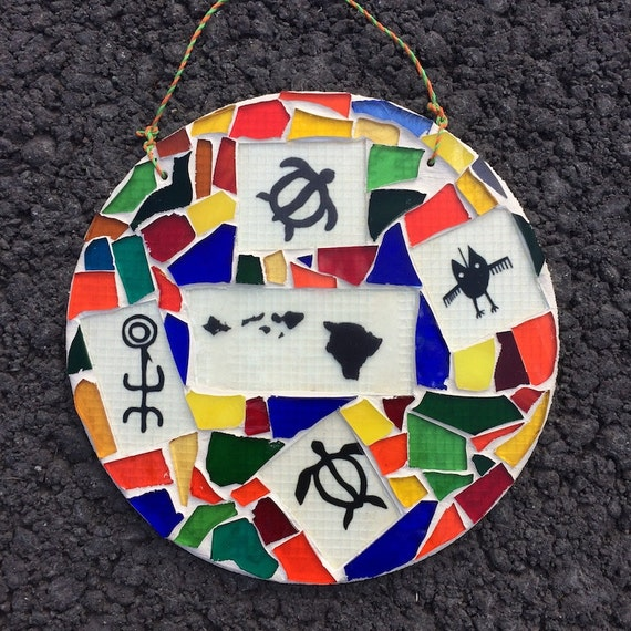 Stained Glass Hawaii Mosaics Art with a Message Made in Hawaii Deesigns by Harris Free Gift Wrap