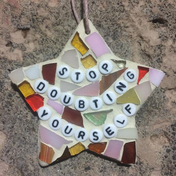 Stained Glass Inspirational Motivational Quotes Affirmations Mosaic Ornaments Hangings Art with a Message Made in Hawaii Deesigns by Harris©