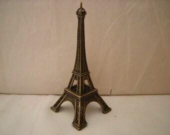 vtge Eiffel Tower-metal tower-Paris souvenir-France souvenir-shelf decor-desk top-collection-retro-