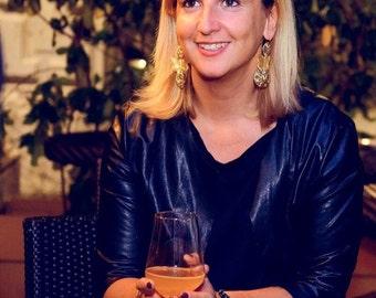 Murano glass earrings Bludiletta