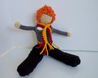 Ron Weasley: harry potter   harry potter doll   ron weasley doll   crochet harry potter   faceless doll   crochet for play   gift for a girl
