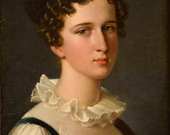 Francois Pascal Gerard (French, 1770-1837) portrait of a Young lady -Oil Painting c.1810