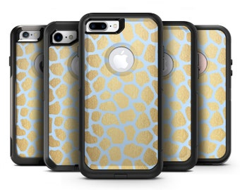 Gold Flaked Animal Light Blue 3 - OtterBox Case Skin-Kit for the iPhone, Galaxy & More