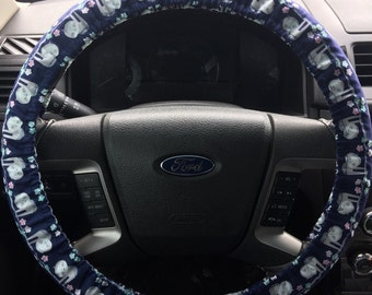 Happy Sloth Steering Wheel Cover