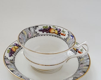 China Tea Cup Fenton Cup and Saucer Vintage Tea Cup and Saucer Fenton Teacup and Saucer Fenton China Vintage China