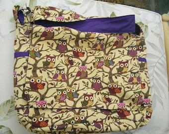 Owl design babywearing bag