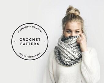 CROCHET PATTERN ⨯ Chunky Infinity Circle Scarf, Ribbed  ⨯ The Léogâne
