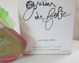 Grain de Folie by Gres 100ml/ 3.38 oz Tester (used)