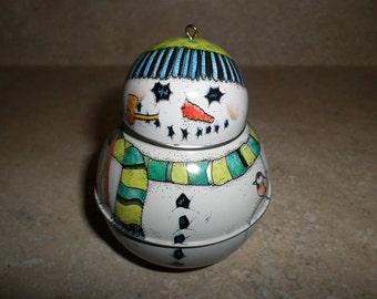 Jolly Wolly Hallmark Christmas Ornament 1991 Snowman