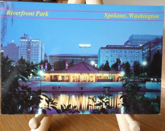 Vintage 1980's Postcard of the Charles Looff Carrousel