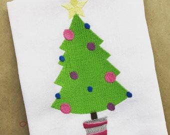 Christmas Tree Bib, My First Christmas, Christmas Bib, Christmas Tree
