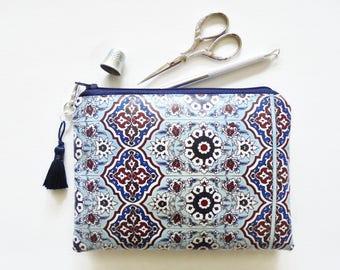Waterproof Tile print, Ladies Wallet,  waterproof pouch, waterproof bag.