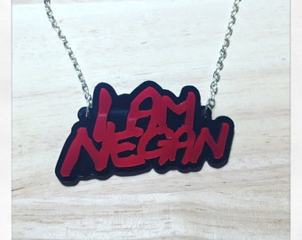 Walking Dead Inspired I Am Negan Acrylic Necklace