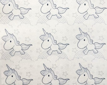 Unicorns and Rainbows Paint-Your-Own Edible Wafer Paper