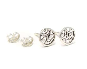 Earrings tree of life from genuine 925 sterling silver