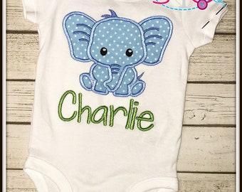 Personalized Elephant Shirt/Bodysuit