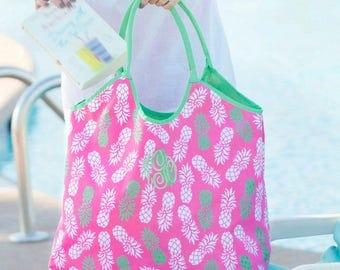 Preppy beach bag | Etsy