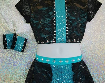 Jazz Costume with Wristbands and Swarovski BLING, any color