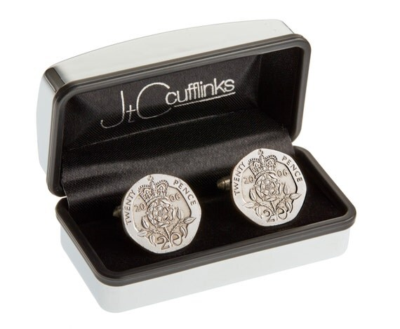 Steel Gifts 11th Wedding Anniversary: 2006 Coin Cufflinks Mens 11th Wedding Anniversary Gift Steel