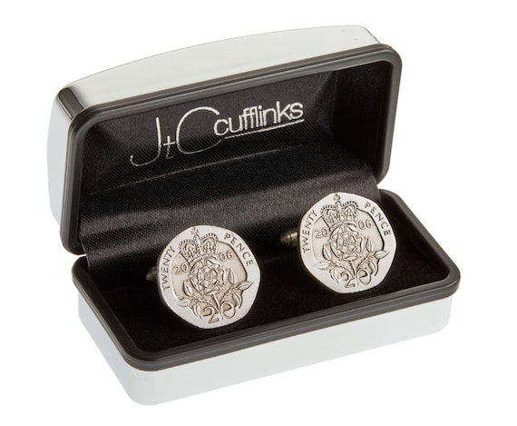 11th Wedding Anniversary Gift Ideas For Men: 2006 Coin Cufflinks Mens 11th Wedding Anniversary Gift Steel