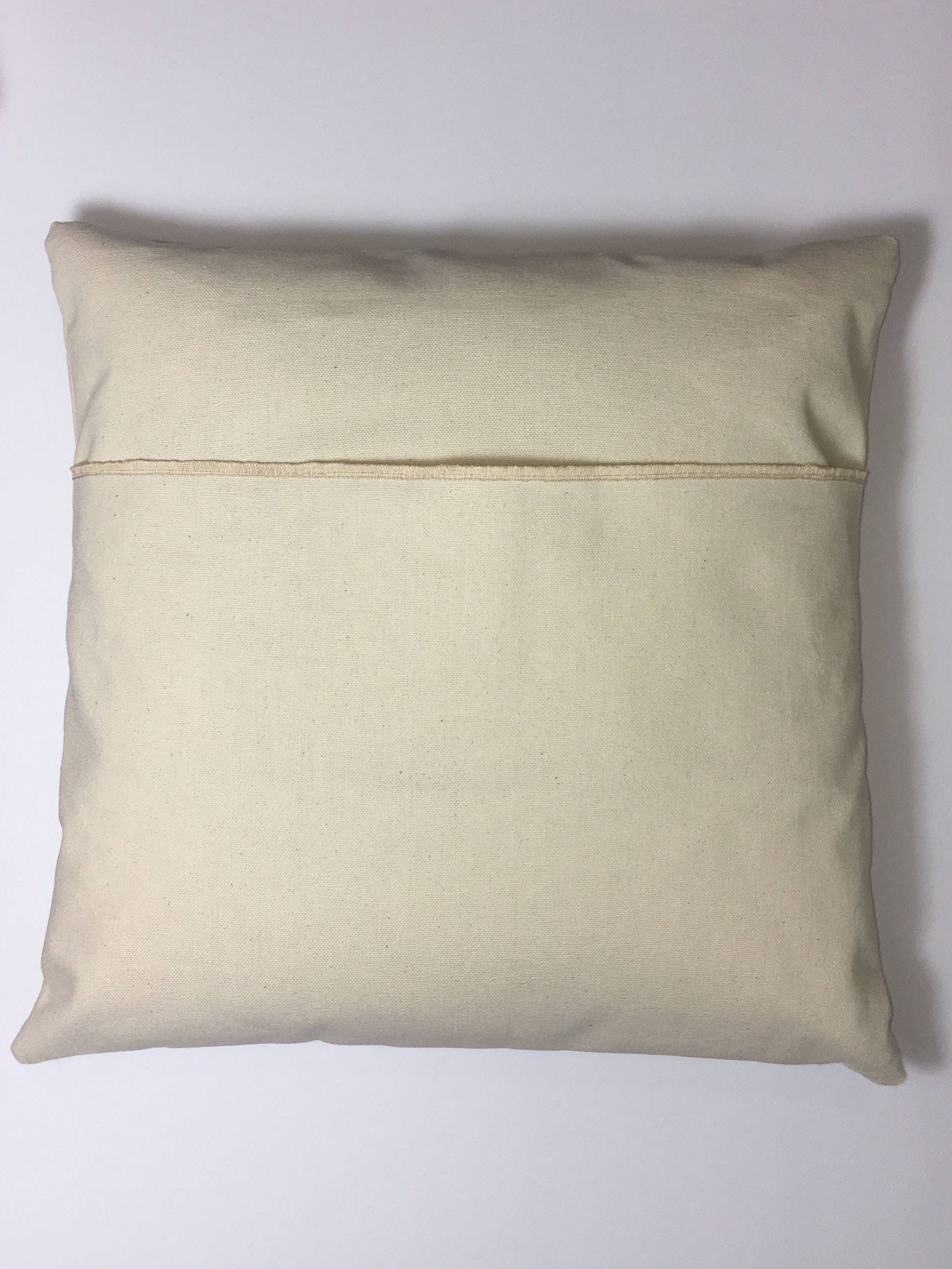 Blank Decorative Pillow Covers : Blank Canvas pillow cover / HTV blanks / blank pillow cover / DIY pillow / canvas pillow cover ...