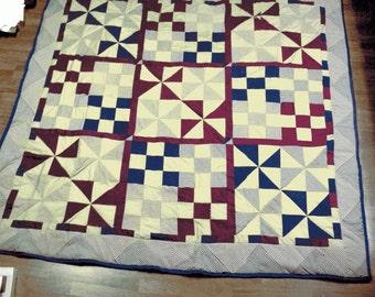 Pinwheel Quilt- various sizes