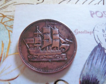 Ships Colonies and Commerce coin antique uncirculated   1835