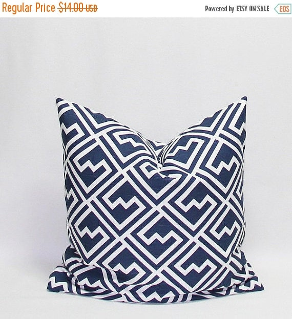 SALE Navy Pillows Blue Pillows Throw Pillow by HomeDecorPillows
