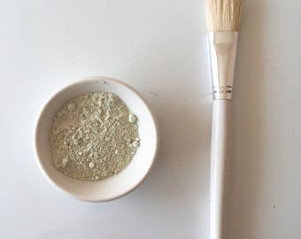 White Facial mask spa brush