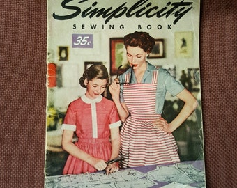 SIMPLICITY Sewing Book, vintage magazine from 1950s