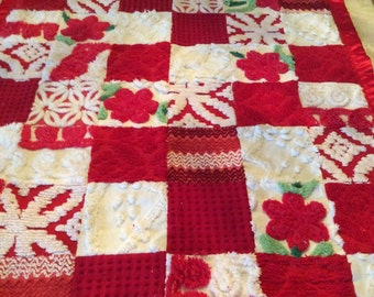 Vintage Chenille Baby Quilt