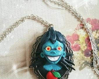 Riuk shinigami necklace collana fimo Clay death note