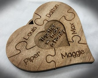 Family Puzzle Pieces Ornament
