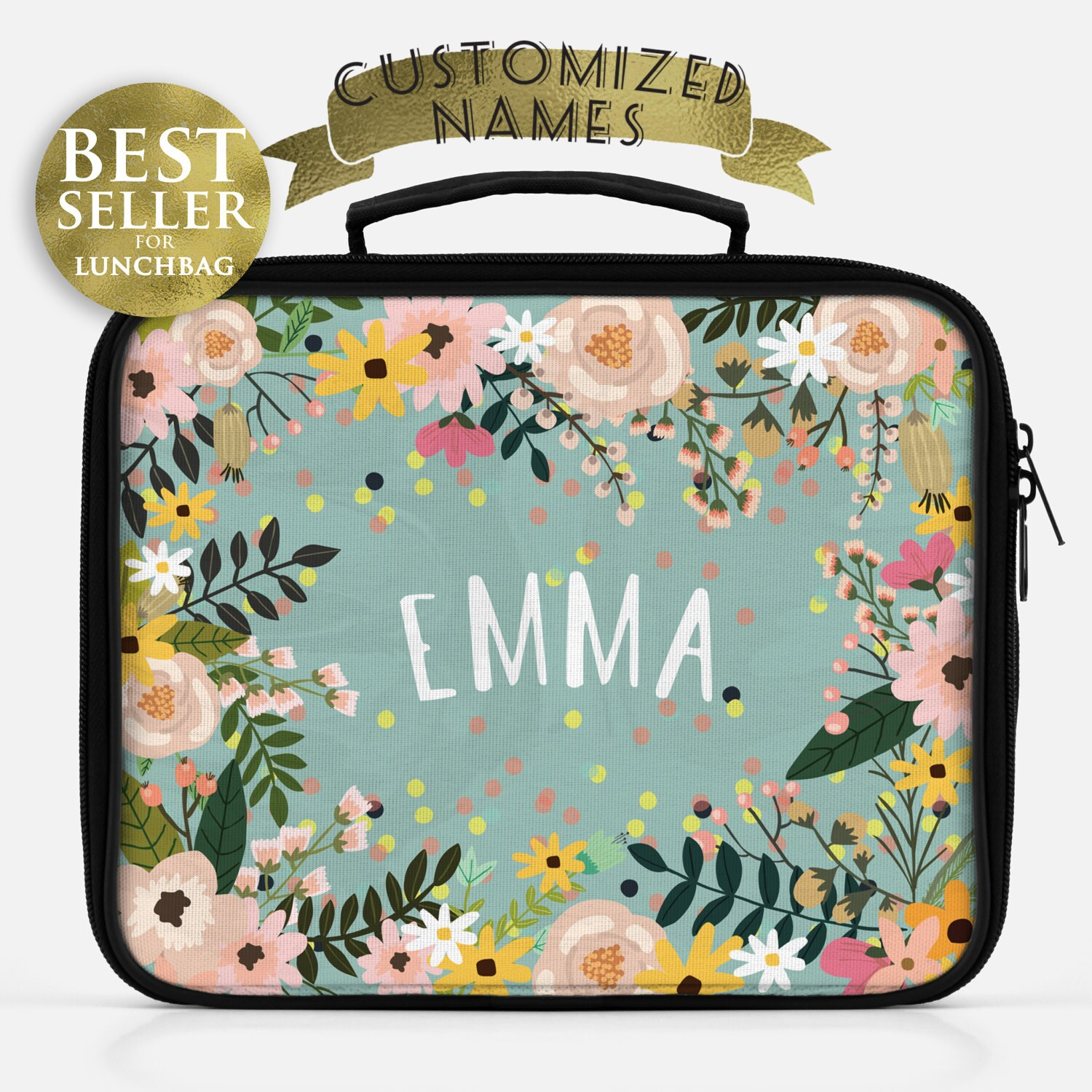 Lunch box - Monogrammed gifts - Personalized lunch box - Lunch tote - Children's lunchbox - Lunch bag for women