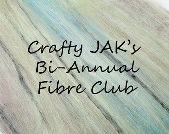 BI-ANNUAL (6 months) Subscriptions to Crafty JAK's Carded Fibre Club