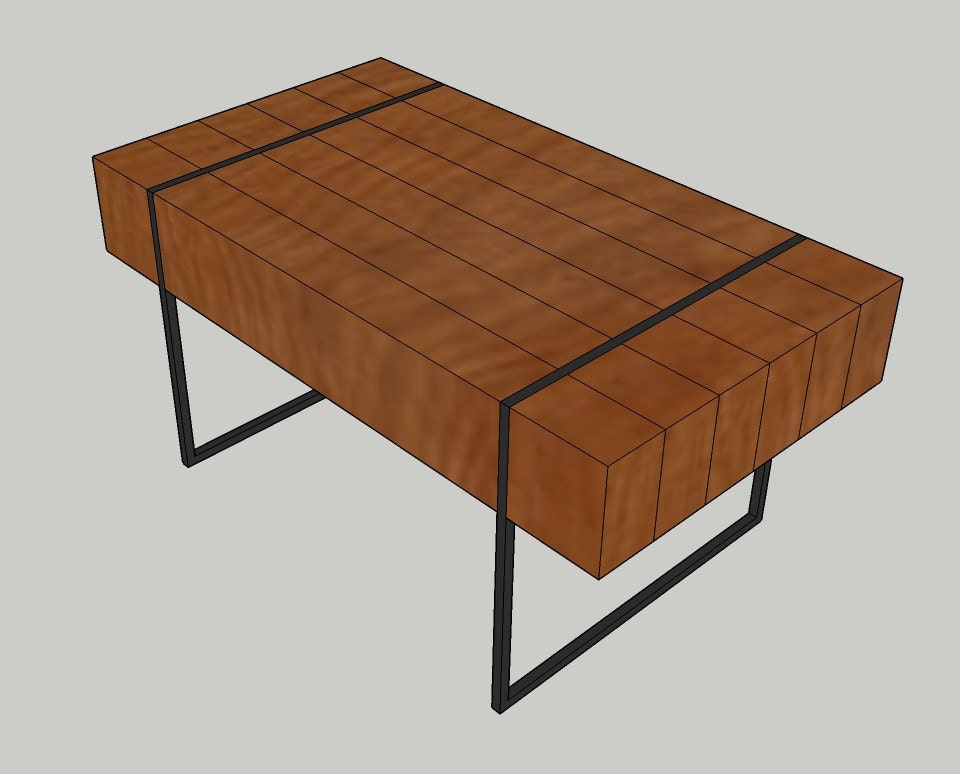 Blueprint plans for block coffee table with hidden storage for Blueprint plan table
