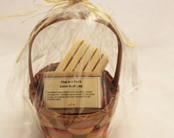 Lemon Burst Soap Gift Basket/Lemon Soap Gift Set/Natural Citrus Soap Basket/Valentine's Gift/Lemon Soap Basket/Natural Soap Gift Basket