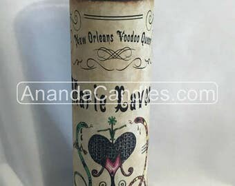 Hoodoo Marie Laveau Antique Veve Fixed 7 Day Candle Voodoo Witchcraft