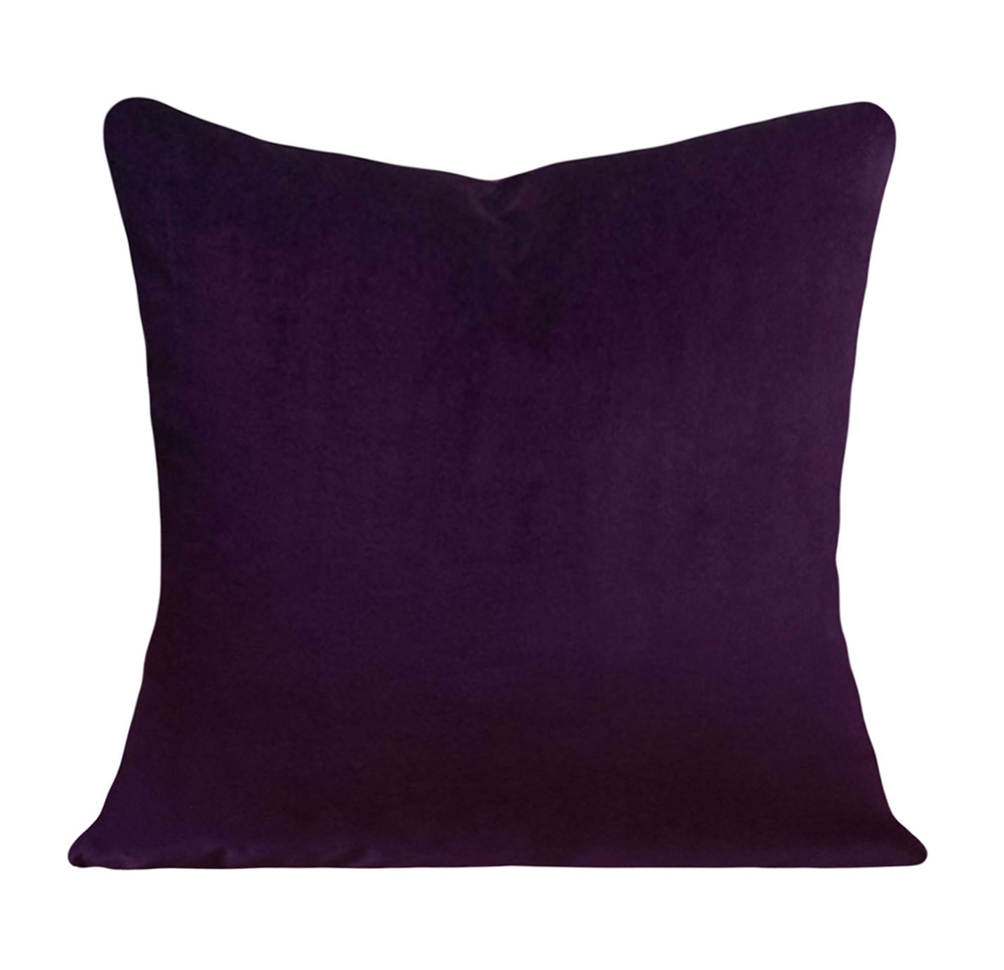 Velvet Decorative Pillow Covers : Purple Velvet Decorative Pillow Cover Throw Pillow Both