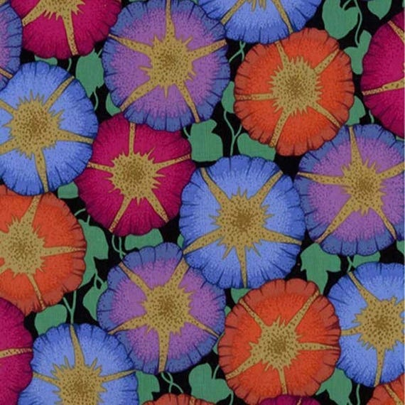 GLORY DARK pwpj085 Philip Jacobs for Kaffe Fassett Collective Sold in 1/2 yd increments