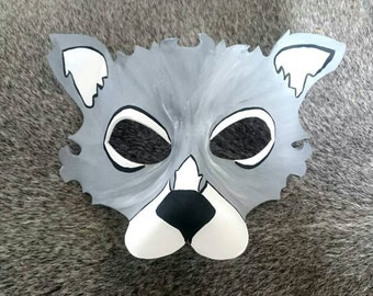 Leather Wolf Mask Halloween Mask Custom Men Women and kids Wolf Mask