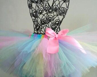 Pastel Rainbow Birthday Tutu, Easter Tutu