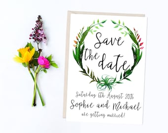 Printable Save The Date, Printed Wedding Save The Date, Wedding Invitations, Invitation Suite, DIY Digital Invitations, Save The Date