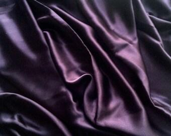 1 1/2 Yards Plum Silk Charmeuse