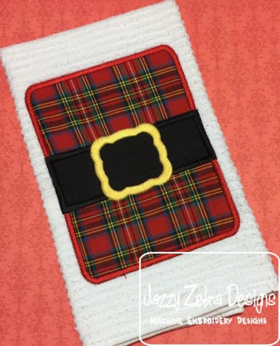 Santa Suit Rectangle/square appliqué embroidery design - Santa appliqué design - christmas appliqué design