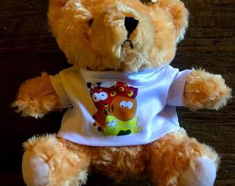 Teddy Bear with Leroy Morvant art.