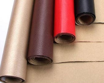 """8 Color Sofa fabric leather fabric patch fabric self-adhesive fabric patch repair fabric -(FSXIY)- by half meter/55""""wide"""